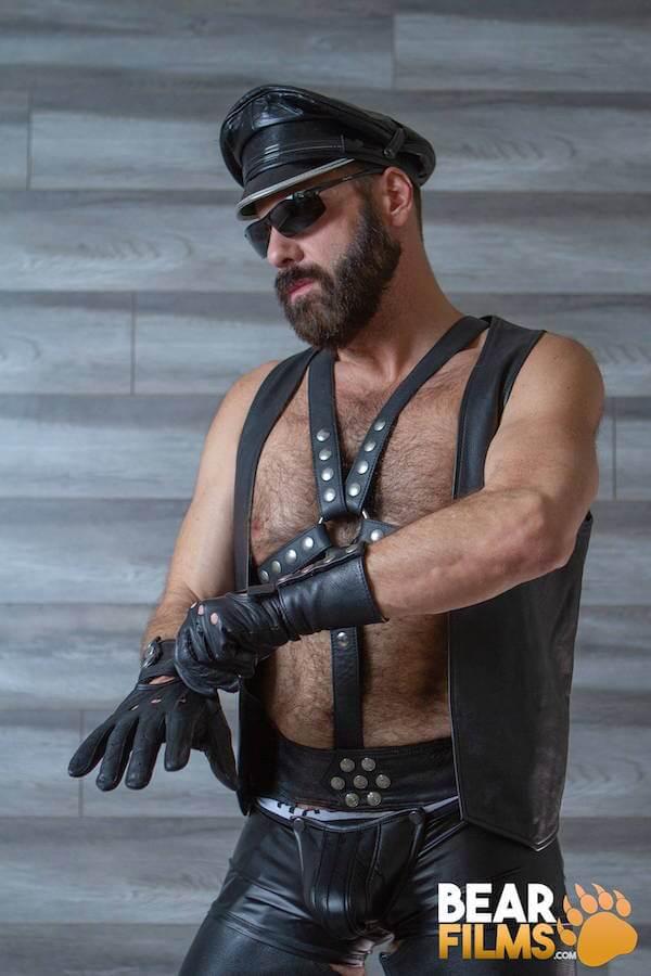 bear viril gants en cuir